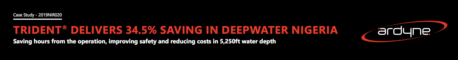 Trident Delivers 34.5 Saving in Deepwater Nigeria